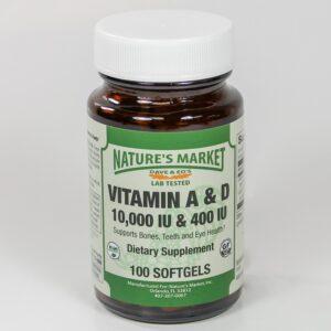 Nature's Market Vitamin A & D 10000 IU & 400 IU